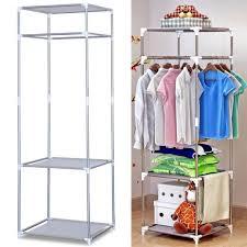 portable clothes rack clothing hanger organizer garment floor display rack stand