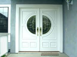 white double entry doors front door with glass design for beveled