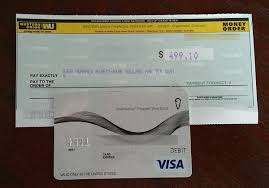 can you a money order with a credit card