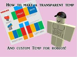 Roblox Template Transparent How To Make A Transparent Roblox Template And Custom Template Youtube