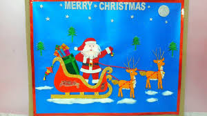 Christmas Chart Images Christmas Chart Santa Claus On Sleigh Paper Painting Drawing