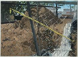 painting chain link fence tape oil on linen x inches painting chain link fence rust oleum