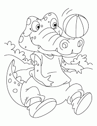 Small Picture Crocodile Coloring Page Coloring Home
