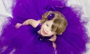 Cute Baby Girl In Purple Dress Photos