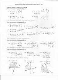 systems of equations quiz answers tessshlo