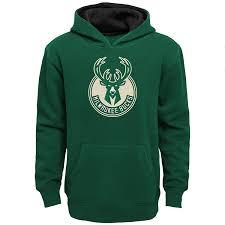 Amazon Com Milwaukee Bucks Green Kids Prime Logo Pullover