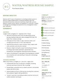 waitress sample resume waiter waitress resume example writing tips resume genius
