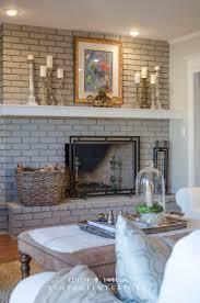 Gray Brick Fireplace Best 25 Painted Brick Fireplaces Ideas On Pinterest Brick