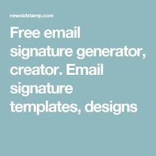 Free Email Signature Generator Creator Email Signature