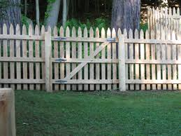Dog Eared Picket Double Gate Outdoor Waco Design Picket Fence Gate