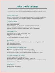Sample Resume For Information Technology Internship Valid Resume