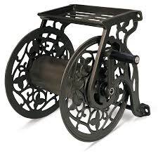 liberty garden products 708 steel decorative wall mounted hose reel is stylish and functional this reel easily secures to walls holding up to