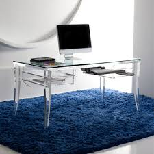 Traditional Glass Top Home Office Desk  Lawrence Desk by Hstudio