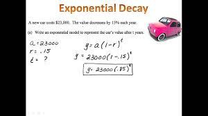 exponential decay word problems