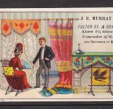 Antique Murray Furniture Store Brooklyn ED New York City Victorian Trade Card