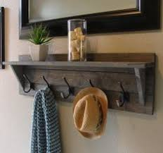 Wall Mounted Coat Rack With Hooks And Shelf Rustic Weathered 100 Hanger Hook Coat Rack with Shelf Handmade Item 19