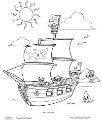 Piraat Kleurplaat