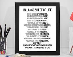 art for office walls. Balance Sheet Of Life, Birth Is Your Opening Stock, Business Quote, Life Quote Art For Office Walls
