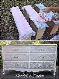 Lovely Lace Decor Projects. Diy Old Furniture MakeoverOld Dresser ...