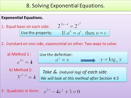 15 8 solving exponential equations