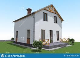 Mini Farm House Design House Building 3d Design Stock Illustration Illustration Of