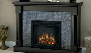 grey brick electric fireplace classic flame media mantel soft white