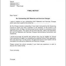 Letter Format For Notice Pay Recovery Fresh Final Notice Letter ...