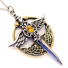 st michael s relic sword pendant necklace