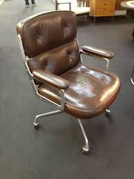 Eames executive chair Herman Miller 1950s Charles And Ray Eames Leather Office Chair Nakedonthevaguecom Charle And Ray Eames Executive Leather Office Chair At 1stdibs