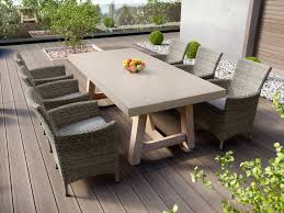 tate concrete outdoor dining table with elba rattan chairs concrete outdoor dining table6