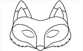 Fox Mask Template Download animal mask template animal templates free & premium templates on happy face mask template