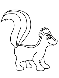 Small Picture Skunk Coloring Page Coloring Home