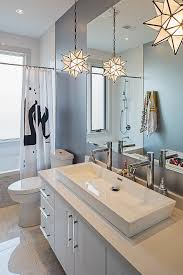 trough bathroom sink with star pendant light bathroom sink lighting