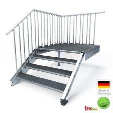 61 cm 65 cm + 50,00 eur 70 cm + 100,00 eur. Aussentreppe Mit Podest 4 Steigungen Laufweite 120 Cm Treppen Bausatz Do It Yourself