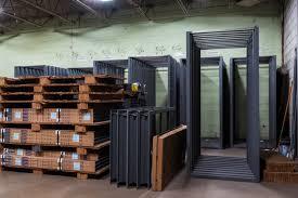 how to install a steel door frame in