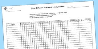 So far you can see we have a variety of sets of worksheets that deal with beginning sounds and rhyming and we are working on more. Phase 3 Phonics Letters And Sounds Analysis Sheet