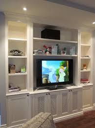 contemporary built in tv wall units