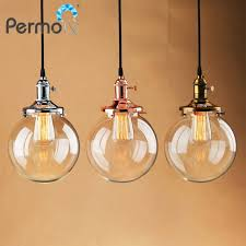 permo glass globe shape pendant lights copper rope pendant ceiling lamps modern hanglamp luminaire lights fixture