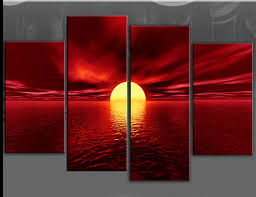 red canvas wall art hand painted large seascape sunset oil painting on art canvas on wall art red with wall art designs red canvas wall art hand painted large seascape