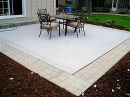 pavers around concrete concrete patio