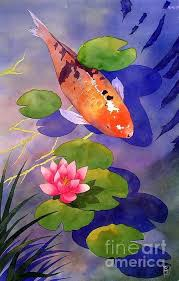 koi pond painting by robert hooper koi pond fine art prints and posters for