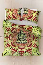 details about bedding set double quilt duvet cover mandala green buddha indian blanket set