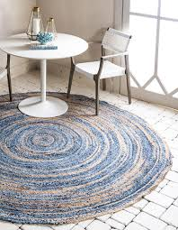 main unique loom 3 3 x 3 3 braided chindi round rug photo