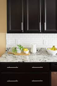 Removing Tile Backsplash Adorable How To Install A Subway Tile Kitchen Backsplash Young House Love