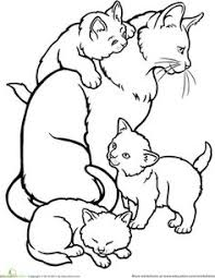expert kittens coloring pages cats and kitten 34 kids cat free