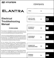 2003 hyundai elantra electrical troubleshooting manual original this manual covers all 2003 hyundai elantra models including gt and gls this book is in new condition measures 8 5 x 11 and is 0 5 thick
