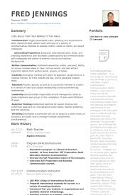 Brilliant Ideas of Sample Resume For Maths Teachers In Download Resume