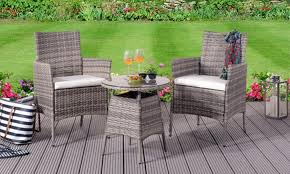 3pc rattan bistro set outdoor patio
