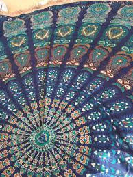 home accessory beautiful mandala mandala wall hanging mandala fabric blue mandala round mandala fashion round mandala