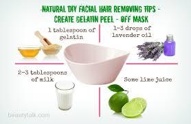 natural diy hair removing tips create gelatin l off mask